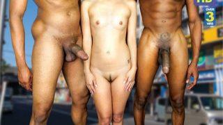 Asyalı Genç Kız ve Koca Yaraklı Zenciler Porno